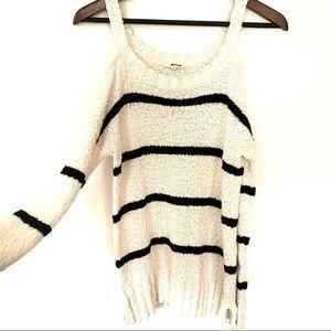 LAmade Cotton Knit Cut Out Sweater